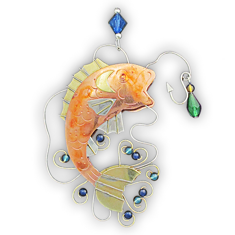 Gone Fishing - Whimsical Special Ocassion & Christmas Ornament