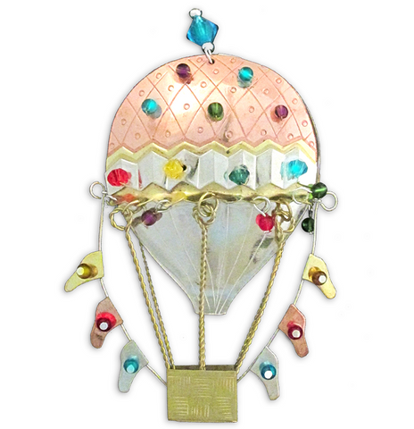 Hot Air Balloon - Handmade Ornament