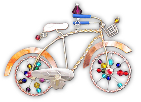Vintage Bicycle - Handmade Ornament