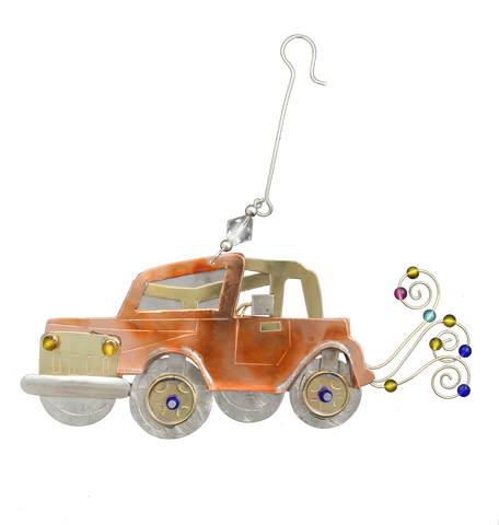 Jeeping - Jeep lovers unique gift - hand crafted recycled ornament with hanger