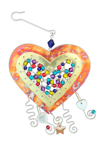 Gem Jeweled Heart - Handmade Ornament