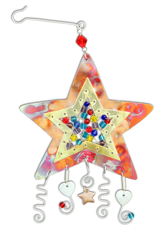 Gem Jeweled Star - Handmade Ornament