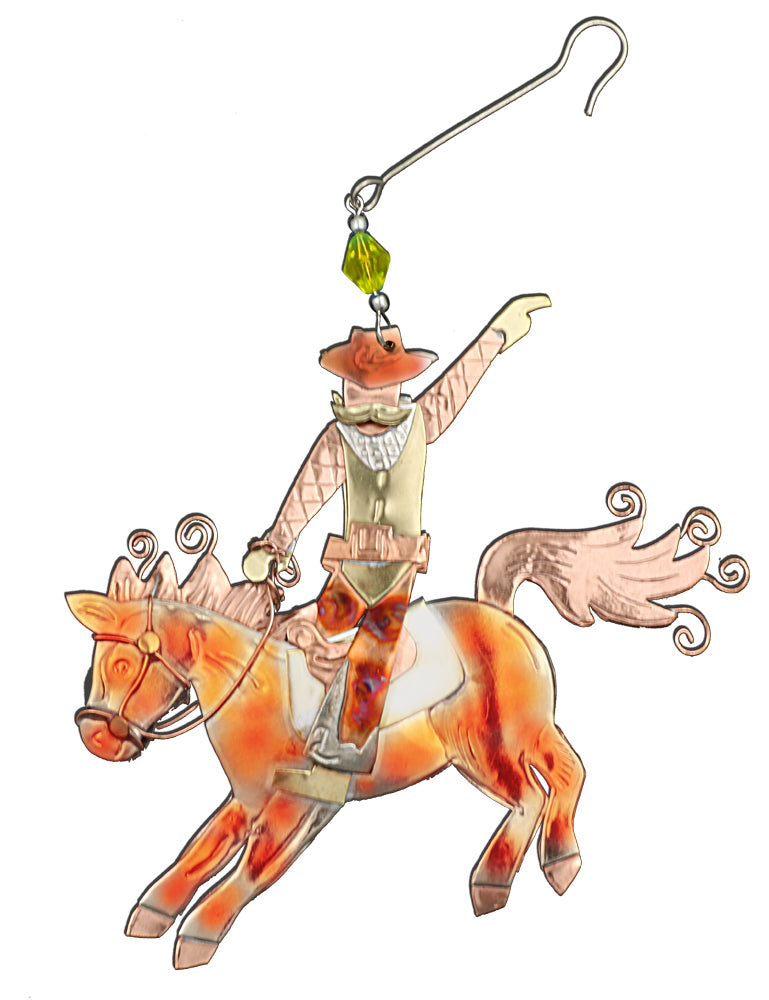 Horseback Riding - Artisan Crafted Gift Ornament