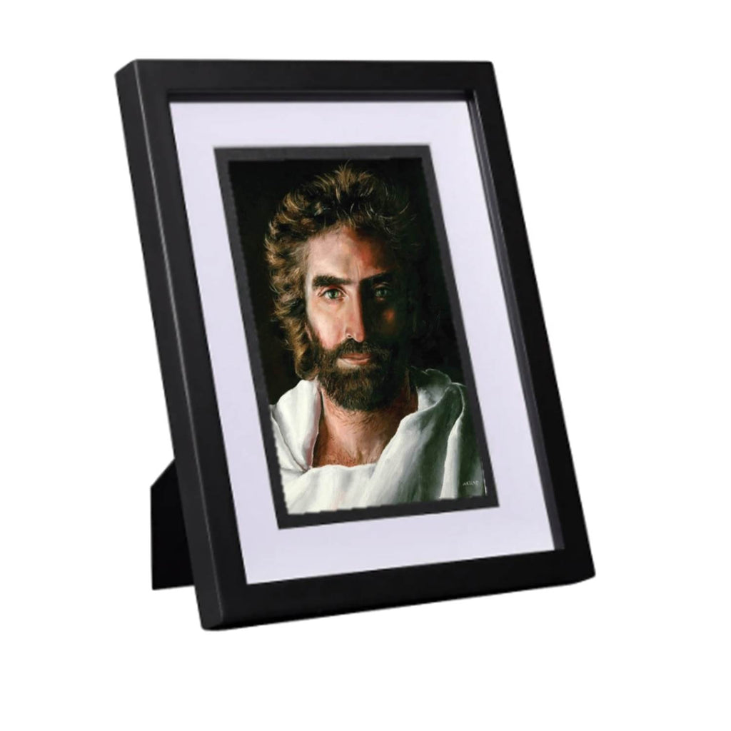 Prince of Peace, Matted in White and Framed in Black for Desk or Tabletop, 5 x 7-inch