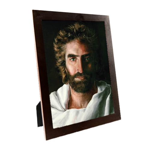 Prince of Peace, Print in Contemporary 8 x 10-inch image size, Espresso Wooden Frame