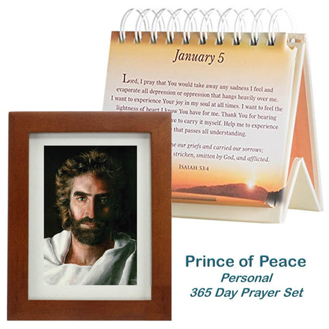Prince of Peace, Personal Prayer Set- calendar & picture