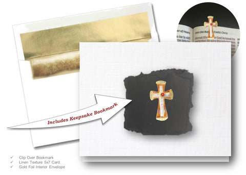 Unity Cross, Book Lovers Card & Bookmark Mailable Gift Set