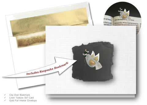 Peace Dove, Book Lovers Card & Bookmark Mailable Gift Set