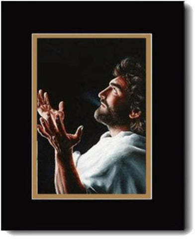 Father Forgive, Jesus Praying,  Double-Matted Print,  16 x 20-inches*