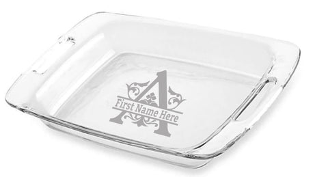 Personalized KeepSake Baking Dish - Pyrex Easy Grab Casserole Dish with Lid