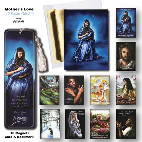 Mother's Love Art by Akiane Fridge & Button Magnet Gift Set @ www.art-soulworks.com