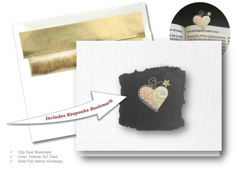 Inspire Heart, Book Lovers Card & Bookmark Mailable Gift Set