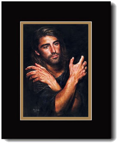 I Am, Jesus Contemplating His Mission,  Double-Matted Art Print, 16 x 20-inch *