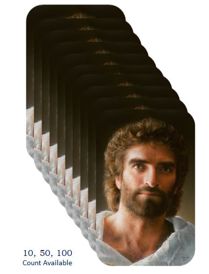 Jesus as painted by Akiane Kramarik 2017 on wallet cards www.Art-soulworks.com