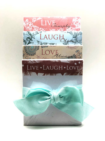 LIVE, LAUGH, LOVE, 4 - Memo Pad Set
