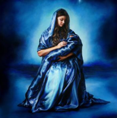 Mother's Love, Canvas,  Baby Jesus & Mother Mary by Akiane Kramarik