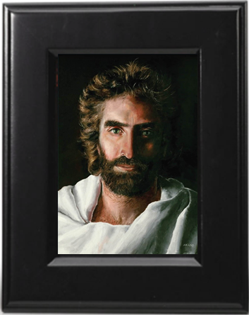 Prince of Peace, Framed in Black for Desk or Tabletop, 5 x 7-inch