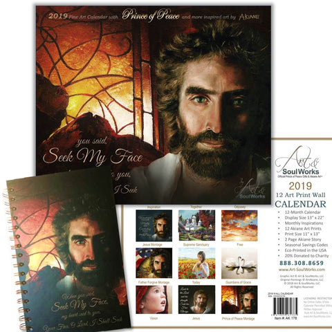 Seek My Face Journal & 12 Akiane Art Prints in Calendar