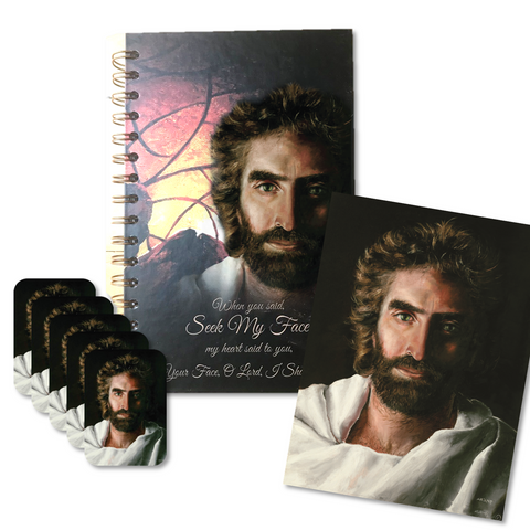 Seek My Face 12 Piece Journal Set with Prince of Peace