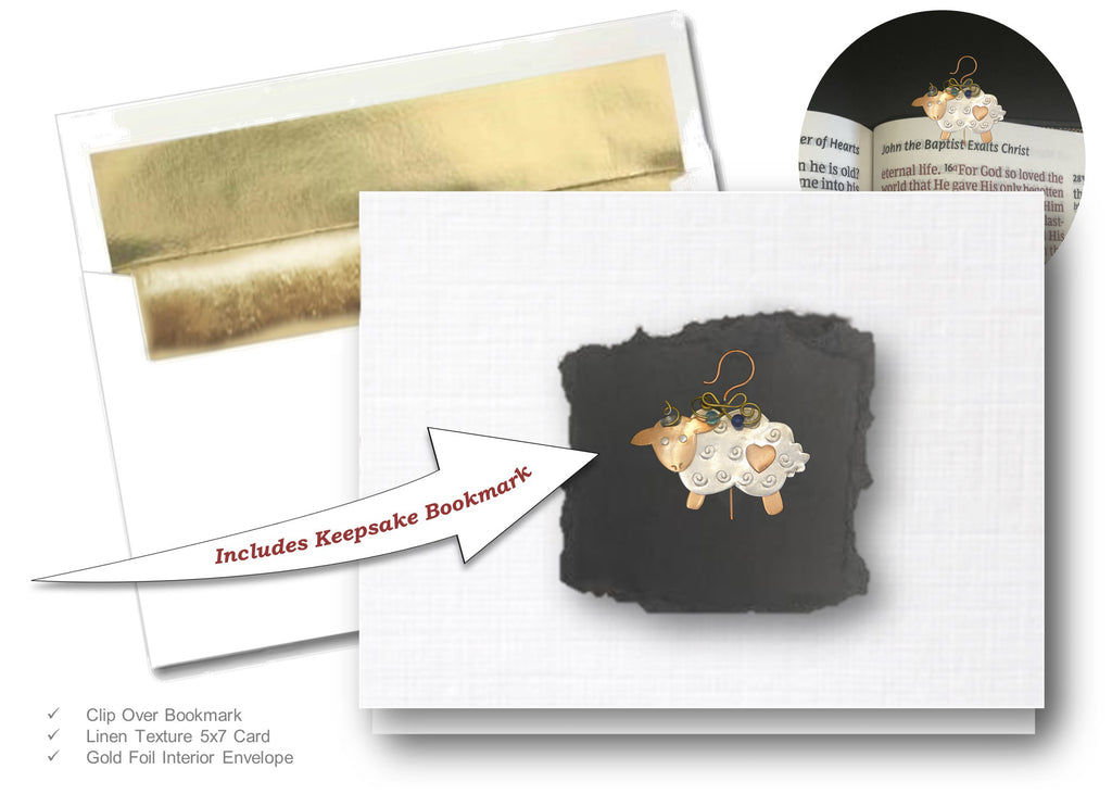 Little Lamb, Book Lovers Card & Bookmark Mailable Gift Set