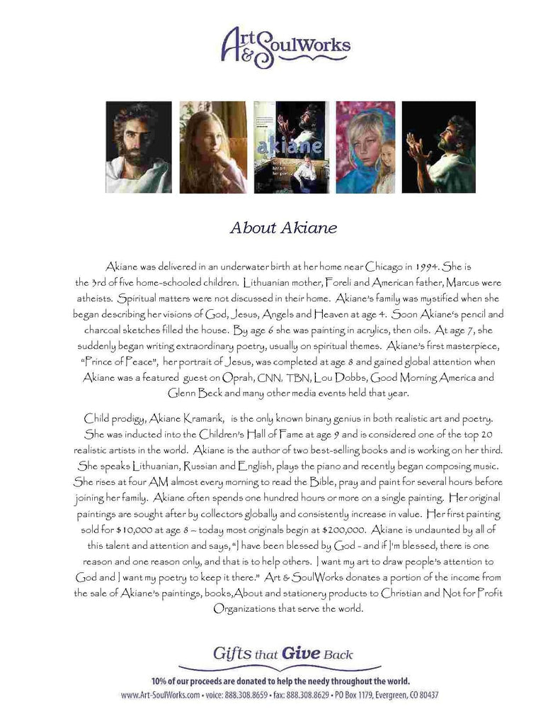 Printable Akiane Kramarik Biography - Full Page @ www.art-soulworks.com