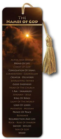 NAMES of God - Bible Bookmark - Son of God Movie - @ www.art-soulworks.com