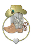 Wild West Boots, Book Lovers Card & Bookmark Mailable Gift Set