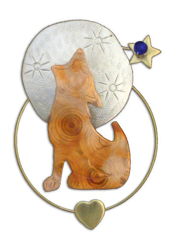 Howling - Clip-over-the-Page - Bookmark @ www.art-soulworks.com