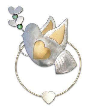 Peace Dove - Clips-over-the-Page - Bookmark @ www.art-soulworks.com