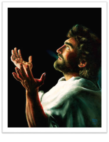 Father Forgive Them - Paper Print - Jesus in Gethsemane Praying @ www.art-soulworks.com