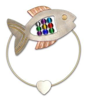 Fish - Clips-over-the-Page - Bookmark @ www.art-soulworks.com