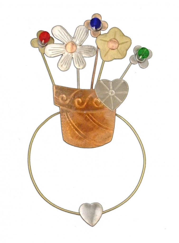 Pot of Flowers - Clip-over-the-Page - Bookmark @ www.art-soulworks.com