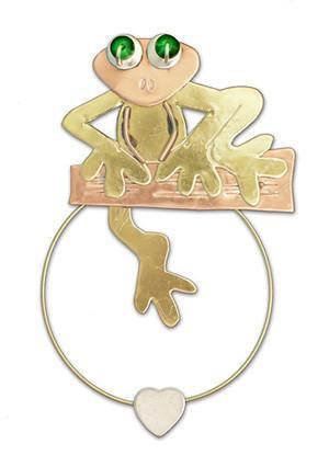 Frog - Clips-over-the-Page - Bookmark @ www.art-soulworks.com