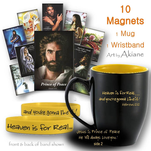 Prince of Peace-Heaven in for Real, Mug of Magnets Set