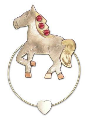 Horse - Clips-over-the-Page - Bookmark @ www.art-soulworks.com