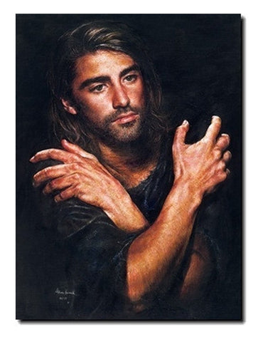 I am akiane kramarik painting of younger jesus in his mid twenties i am canvas print by akiane kramarik art soulworks akiane kramarik with jesus thecheapjerseys Choice Image