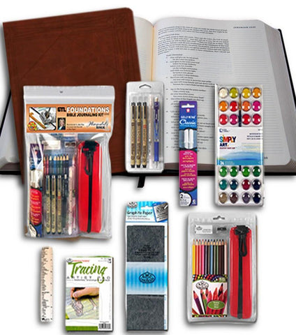 ESV Journaling Bible with Foundations Bible Journaling Kit