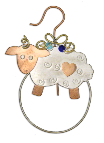 Little Lamb Clips-Over-The-Page Bookmark