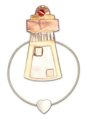Lighthouse - Clips-over-the-Page - Bookmark