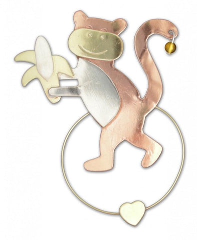 Monkey - Clips-over-the-Page - Bookmark @ www.art-soulworks.com