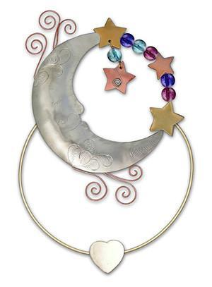 Moon - Clips-over-the-Page - Bookmark @ www.art-soulworks.com