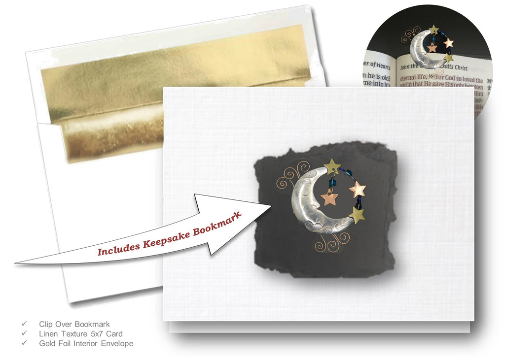 Moon, Book Lovers Card & Bookmark Mailable Gift Set
