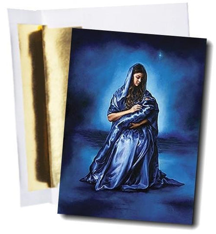 Mother Mary and Baby Jesus greeting card by Art & SoulWorks