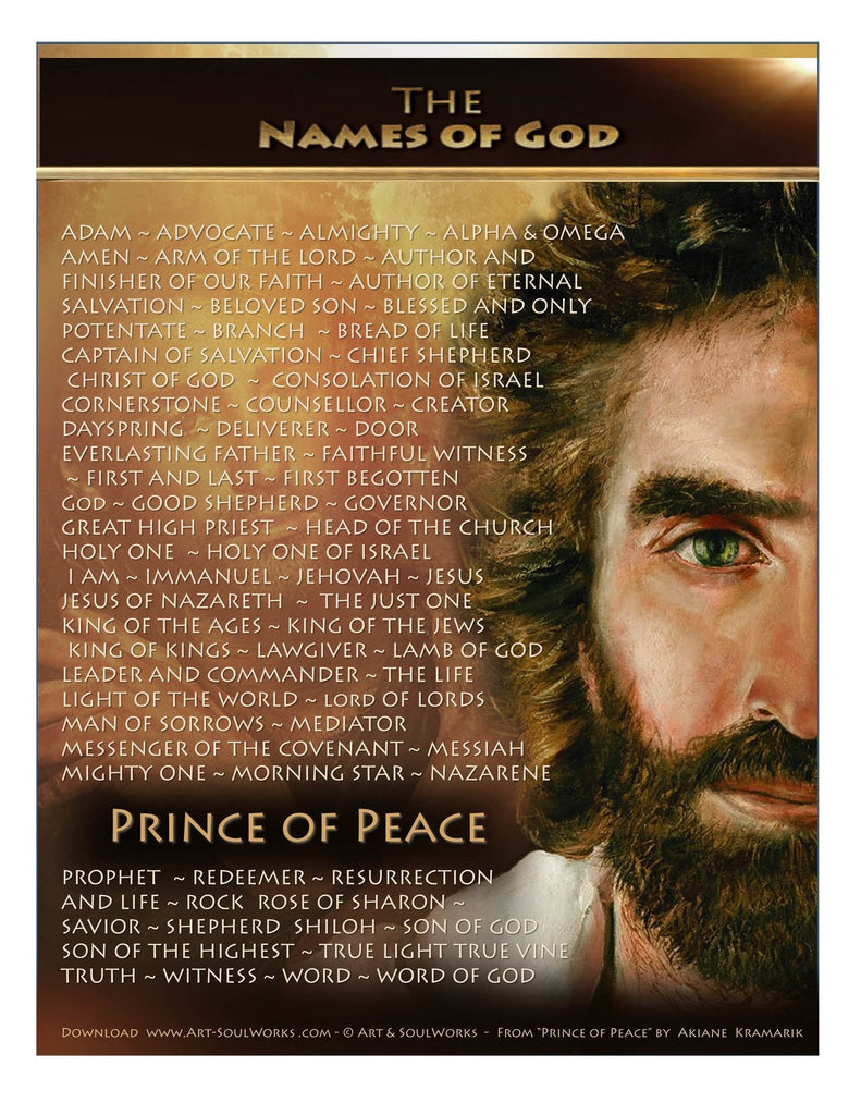 The Name of God - Purchase-to-Print - 8 x 10 Download @ www.art-soulworks.com