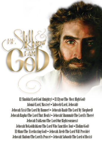 Prince of Peace with Be Still and Know that I Am God Card Front @ www.art-soulworks.com
