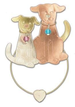 Puppy Love - Clips-over-the-Page - Bookmark @ www.art-soulworks.com