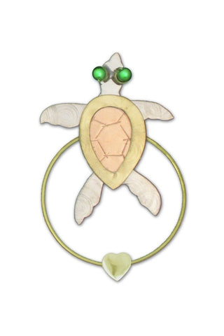 Sea Turtle - Clip-over-the-Page - Bookmark @ www.art-soulworks.com