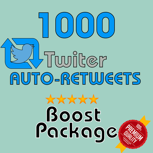 1000 Auto-Retweets per post- 30 Day Membership - 10 Posts/day max