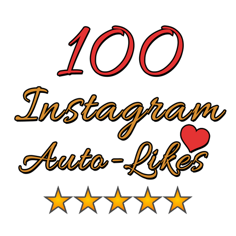 100 Instagram Auto Likes per post