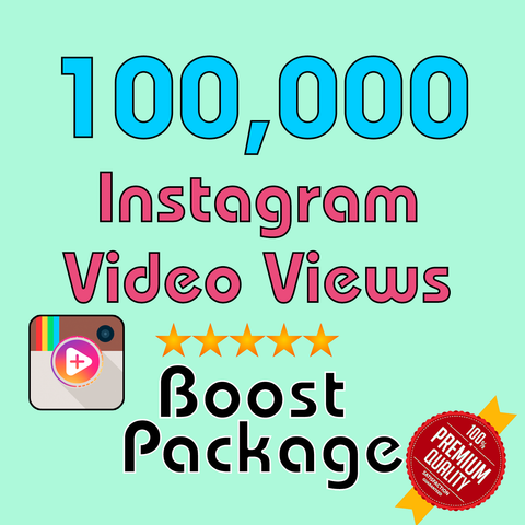 100000 Instagram Video Views - TryFollowers - Cheapest Services